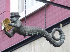 Cl@udi on Flickr. Bookworm sign, Delft, The Netherlands.
