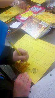 Area/perimeter lesson using literature - Spaghetti and Meatballs for All & Cheese-its.
