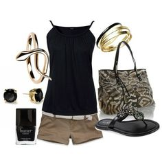 black and brown summer outfit