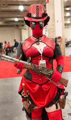 Steampunk Lady Deadpool. To good not to pin.