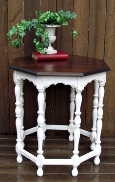 chalk paint, anni sloan, pure white, side tabl, annie sloan, diy project, paints, furnitur, dining tables