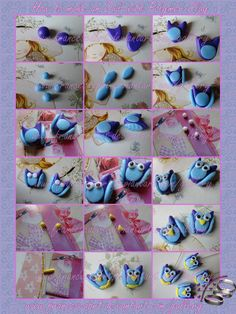 Tutorial How to make an Owl with Polymer Clay by FrancescaBrt.deviantart.com on @deviantART