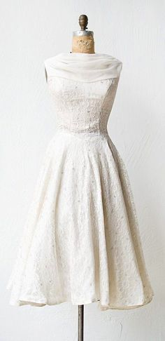 Vintage Fashion ~ Vintage Lace Dress.
