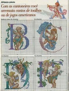 sewingcrossstitch alphabet, broderi abécédair, cross stitch, punto de, de cruz