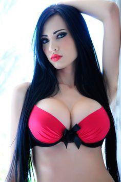 253 face swap, dark hair, sexi, long hair, dark beauty, red lips, beauti, lipstick colors, eye