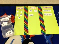 Letter, word, and sentence sorting activity for whole class, centers or intervention for struggling readers