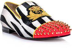 Christian Louboutin Harvanana zebra ponyskin loafer on shopstyle.com