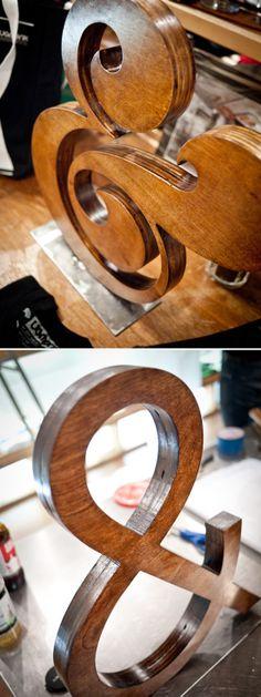 idea, ugmonk, letter, wooden art, type, design, typographi, thing, wooden ampersand