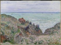 Claude Monet (French, 1840–1926). Cabin of the Customs Watch, 1882. The Metropolitan Museum of Art, New York. Bequest of Julia B. Engel, 1984 (1984.341)   Of the fourteen versions of this motif painted at Pourville in 1882, this painting is among the most interesting in terms of color refinement and execution.