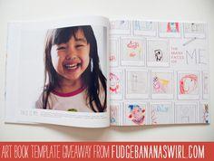 I sooo wanna make books like this for the kiddos make a book, photo layouts, photo books, kids artwork, kid artwork, photobook, child art, books for kids, coffee table books