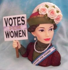 "Vintage Lady Head Vase Napcoware | HEAD VASE CAMEO GIRLS MARTINA 1920 ""SUFFRAGETTE"" WOMEN TO VOTE MIB"