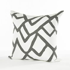 Grey and White Graphic Pillow, South of Market, $395
