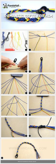 At first sight of the string bracelets tutorial, y