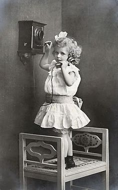little girls, vintage phones, precious children, vintage photos, vintag photo, telephon, postcard, vintage roses, vintage girls