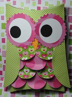 Silhouette Owl Pillow Box