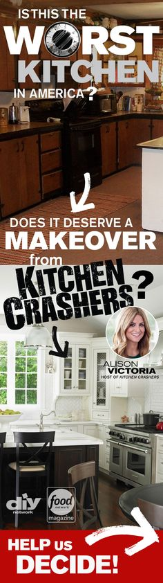 Think this kitchen is bad? Wait till you see the rest >> http://www.diynetwork.com/worst-kitchen-in-america-2013-vote/package/index.html?soc=wkia