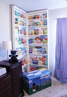 Big corner bookcase