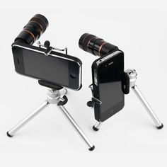 8x Zoom Lens and Mini-Tripod Kit For iPhone 4/4S