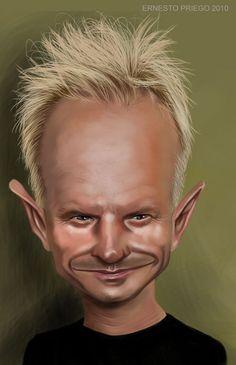 Sting    Artist: Ernesto Priego   website: http://dibustracion.blogspot.com/