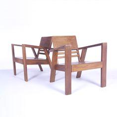 Erich Dieckmann Attributed; Wood Armchairs, 1930s.