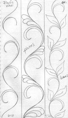 Basic Vine and variations for sashings
