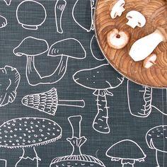 Love the retro-mod feel of this mushroom print.