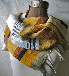 mustard yellow -- pidegpidge's handwoven scarf    via etsy