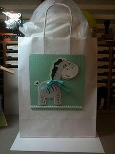 Baby Gift Bag made with the Cricut and Creative Memories Stork's Delivery cartridge