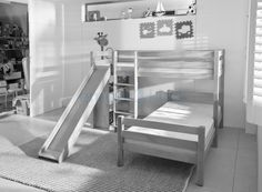 Dide en floor on pinterest bunk bed bedroom loft and small apartment decorating - Tiener meisje mezzanine slaapkamer ...
