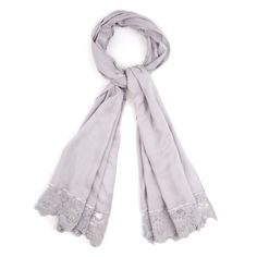 Lace Border Scarf at