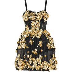Dolce & Gabbana Embellished mesh dress ($15,960) ❤ liked on Polyvore