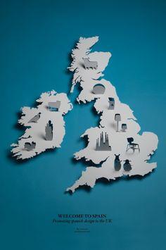 Diseño españoles en el cartel del Reino Unido (Imprimir) por Lo Siento Studio, Barcelona