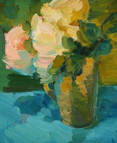 Flowers in a Cup, painting by artist Kathryn Townsend