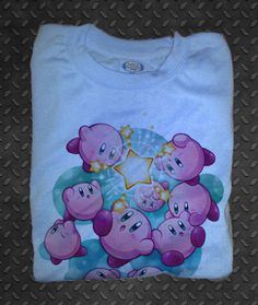 Nintendo Kirby's Dreamland Star Light Blue T-Shirt