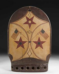 Flag Holder, 19th century, unidentified artist, carved and painted wood 20 7/8 x 14 1/4 x 3 1/2 in. (53.0 x 36.2 x 8.9 cm), Smithsonian American Art Museum, Gift of Herbert Waide Hemphill, Jr. and museum purchase made possible by Ralph Cross Johnson 1986.65.80