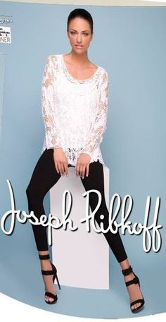 Joseph Ribkoff White Lace Tunic.