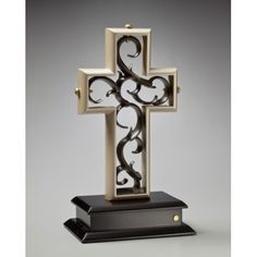 Champagne and Chocolate Bronze Unity Cross.