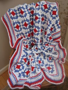 patterns, american beauti, american beauty, colors, crochet afghanssquaresmotif, crochet americana blankets, beauti blanket, crochet pattern, crochet idea