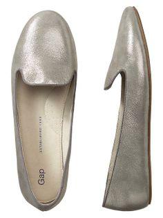 metallic loafers / gap