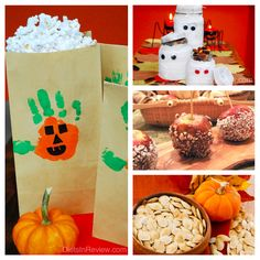 4 Halloween Crafts with Healthy Snacks