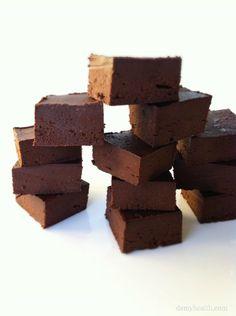 Nutella Freezer Fudge #glutenfree #grainfree #paleo #vegan #raw