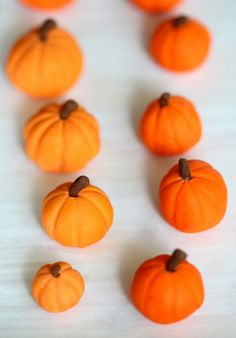 sugar paste pumpkins