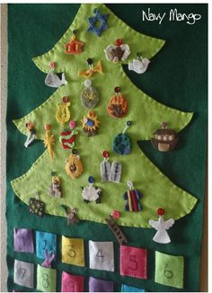 Jesse Tree DIY KIT - Ready to Ship - Biblical Christmas Countdown Advent Calendar with Devotional