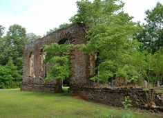 The Biggin Church ruins located in Moncks Corner are all that remain of a church that was constructed in the early 1700s.