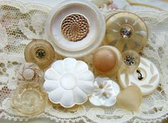 Vintage Shabby Chic White Mother of Pearl by Alyssabeths on Etsy, $6.00