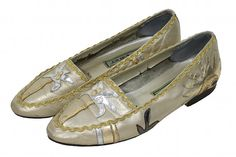 80s MIAMI Palm Sun flats GOLD silver indie by TheBabyDynosaur, $14.99