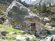 A toue (shepherd's shelter) in the Pyrénées. ...