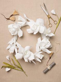 flower wreath, flower crowns, paper flower crown diy, paper flowers, diy paper