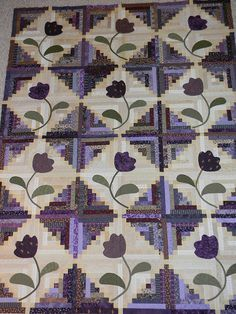 Purple Log Cabin UFO from about 2006 or  2007. by quiltn queen, via Flickr