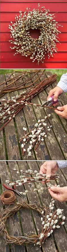 Make a Beautiful Pussy Willow Wreath ~♥~